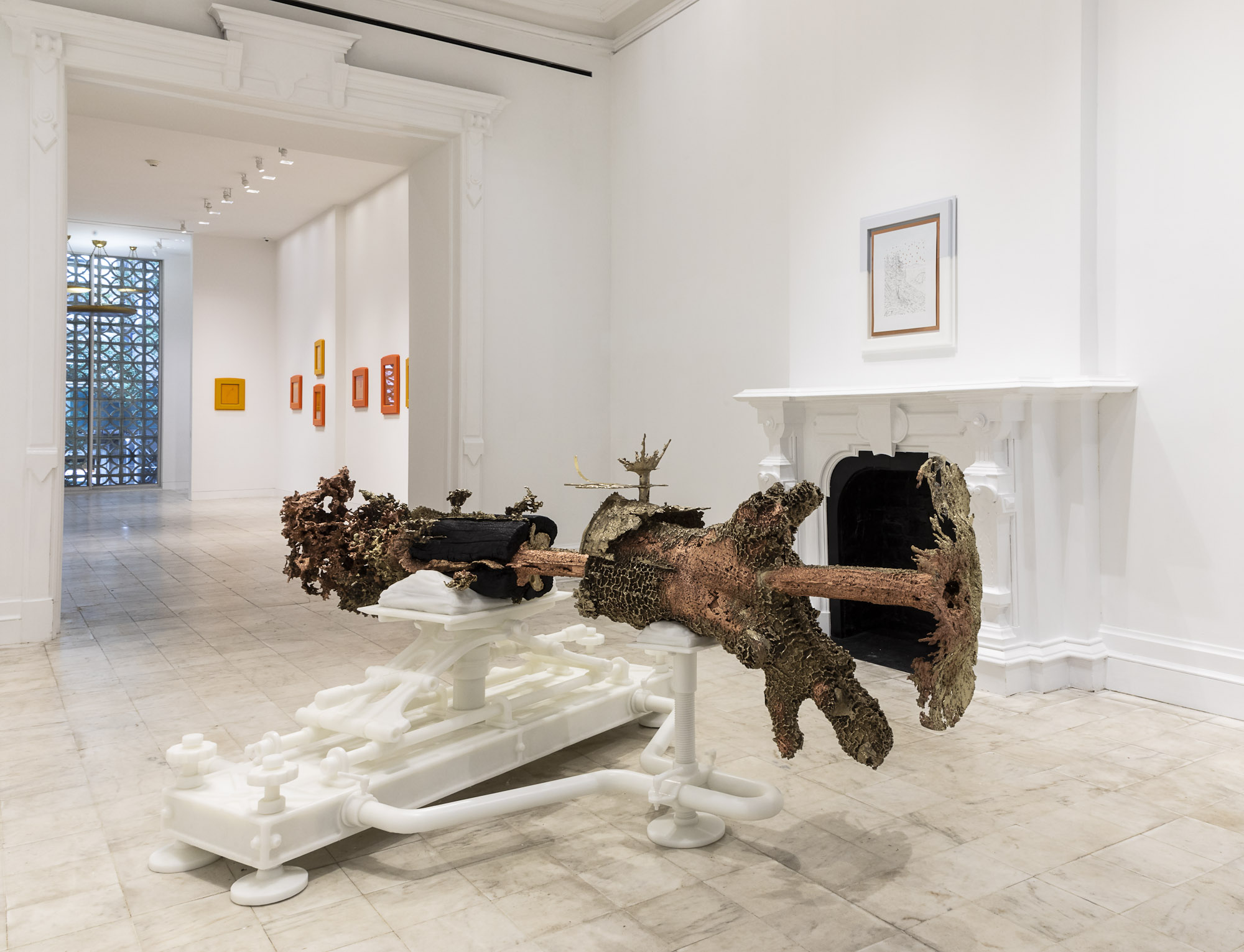 Installation view, Matthew Barney: <i>Embrasure</i>, at Gladstone 64, 2019.