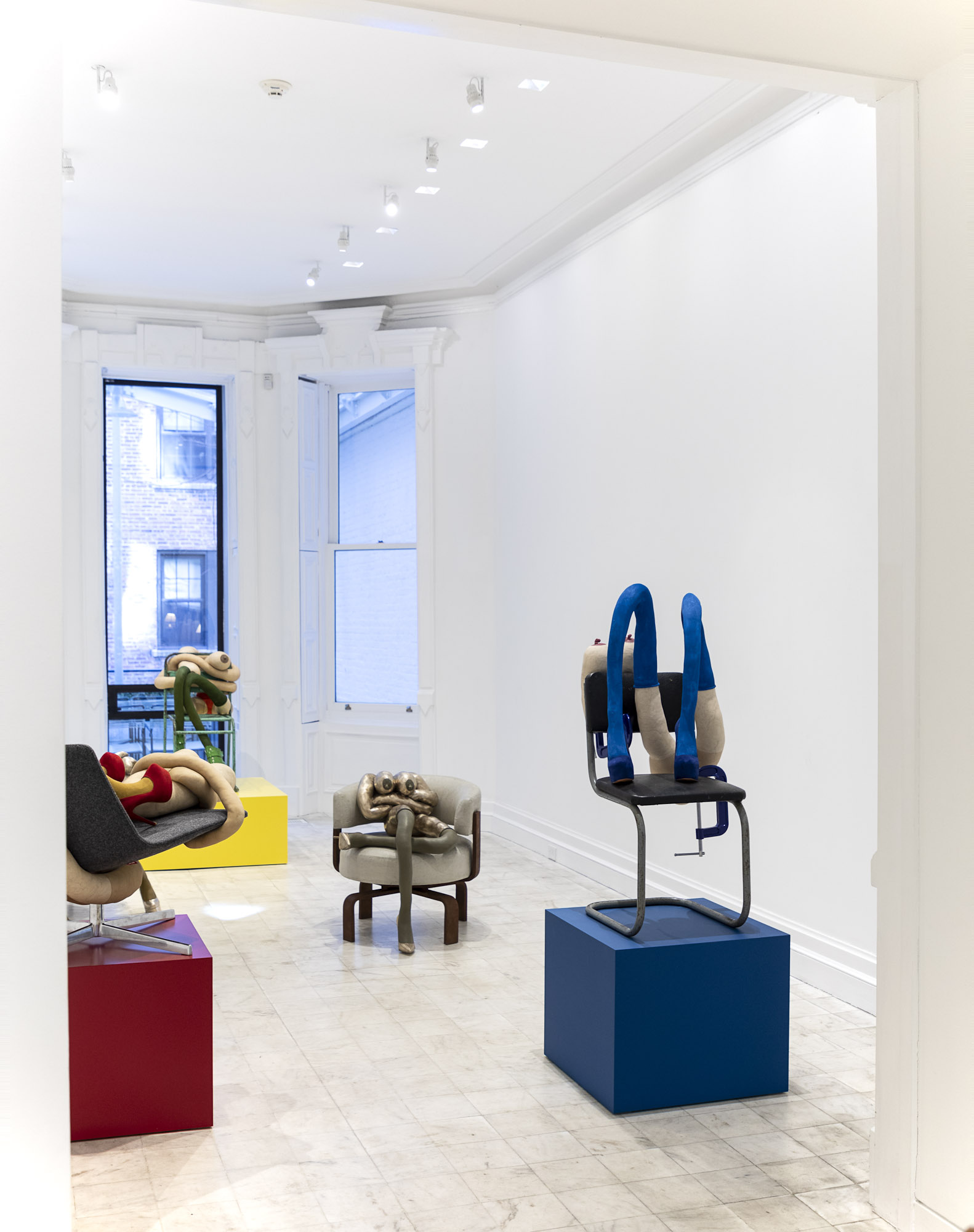 Installation view, Sarah Lucas: <i>HONEY PIE</i>, at Gladstone 64, New York, 2020